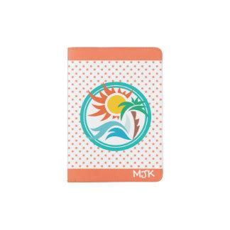 Sun & Surf (Orange Dots) Passport Holder