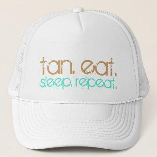 Sun Tan Eat Sleep | Beach Lovers Summer Vacation Trucker Hat