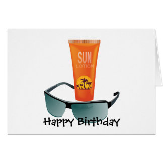 Sun Tan Lotion Card