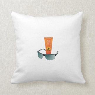 Sun Tan Lotion Throw Pillow