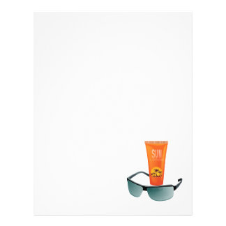 Sun Tan Lotion Personalized Flyer