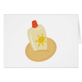 Sun Tan Lotion Greeting Card