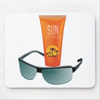 Sun Tan Lotion Mouse Pad