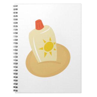 Sun Tan Lotion Notebook