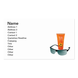 Sun Tan Lotion Pack Of Standard Business Cards
