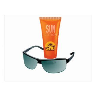Sun Tan Lotion Postcard