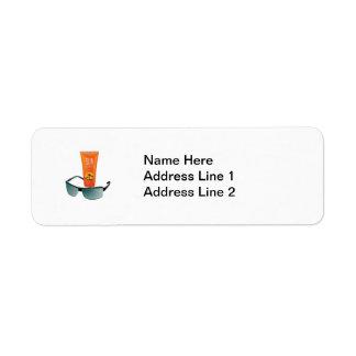 Sun Tan Lotion Return Address Label