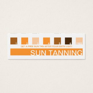 SUN TANNING customer appreciation (mod squares) Mini Business Card