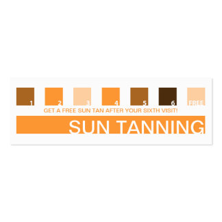 SUN TANNING customer appreciation (mod squares) Pack Of Skinny Business Cards