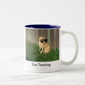 Sun Tanning Two-Tone Coffee Mug