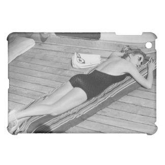 Sun Tanning Woman iPad Mini Cases