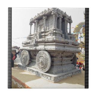 SUN temples of India miniature stone craft statue Small Square Tile
