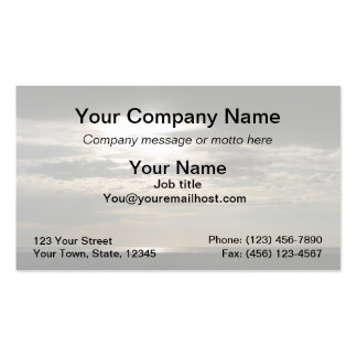 Sun Through Clouds on Antelope Island Pack Of Standard Business Cards