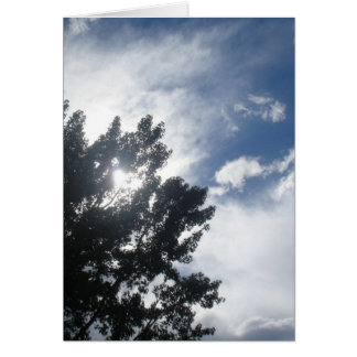 Sun Through The Clouds Card