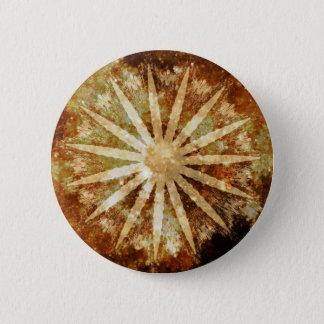 Sun Universe Cosmic Warm Golden Brown Colors 6 Cm Round Badge