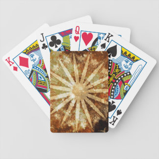 Sun Universe Cosmic Warm Golden Brown Colors Bicycle Playing Cards