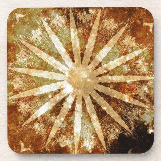 Sun Universe Cosmic Warm Golden Brown Colors Coasters