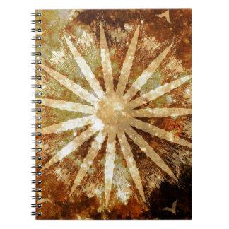 Sun Universe Cosmic Warm Golden Brown Colors Note Books