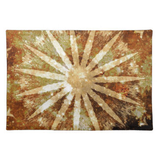 Sun Universe Cosmic Warm Golden Brown Colors Placemat