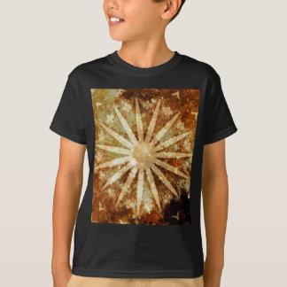 Sun Universe Cosmic Warm Golden Brown Colors T-Shirt