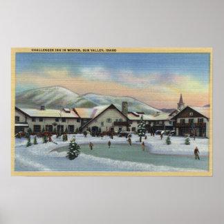 Sun Valley, ID - Challenger Inn in Winter Poster
