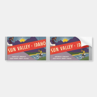 Sun Valley Idaho Vintage Bumper Stickers