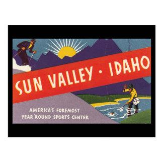 Sun Valley Idaho_Vintage Travel Poster Postcard