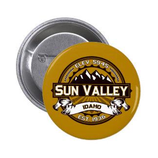 Sun Valley Logo Tan Pinback Button