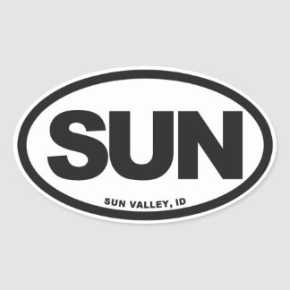 Sun Valley Oval Sticker