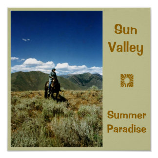 Sun Valley Summer Paradise Poster