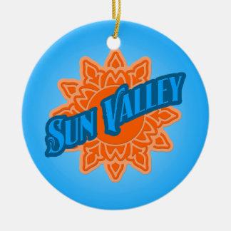 Sun Valley Sunburst Ceramic Ornament