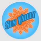 Sun Valley Sunburst Classic Round Sticker