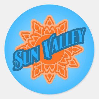 Sun Valley Sunburst Classic Round Sticker