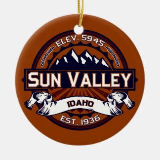 Sun Valley Vibrant Ceramic Ornament