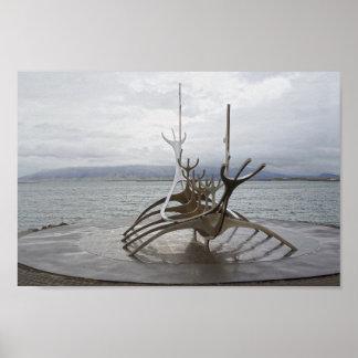 Sun Voyager Sculpture, Reykjavik, Iceland Poster