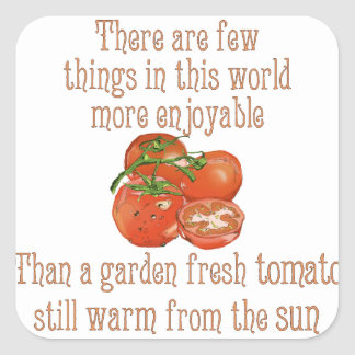 Sun Warmed Tomatoes Square Stickers