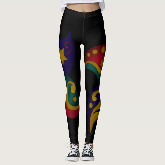 sun with stars combonation leggings