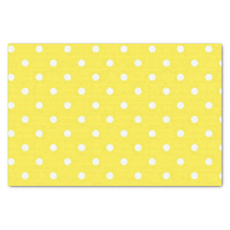 Sun Yellow and White Polka Dots Tissue Paper