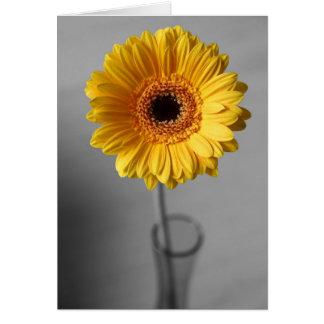 Sun Yellow Gerbera Card