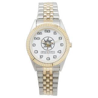 SunBathe Women's Two-Tone Bracelet Watch
