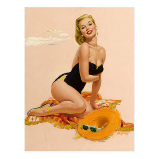 Sunbather PinUp Postcard
