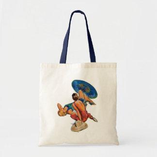 Sunbathers Budget Tote Bag