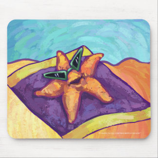 Sunbathing Starfish Mouse Pad