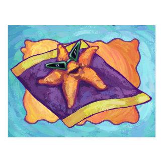 Sunbathing Starfish Postcard