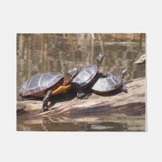 Sunbathing Turtles Doormat