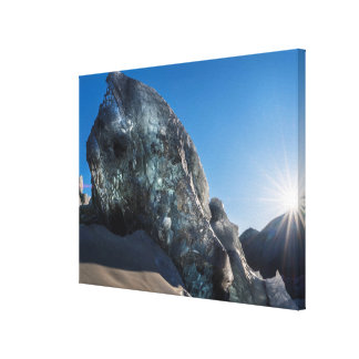 Sunbeam and ice, Iceland Canvas Print
