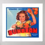 Sunbeam Orange Label Poster