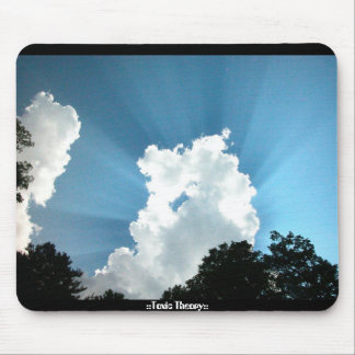 sunbeams and clouds mouse pad