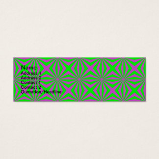 Sunbeams in Green and Pink tiled Card