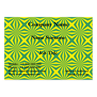 Sunbeams in Green and Yellow tiled Card Pack Of Chubby Business Cards